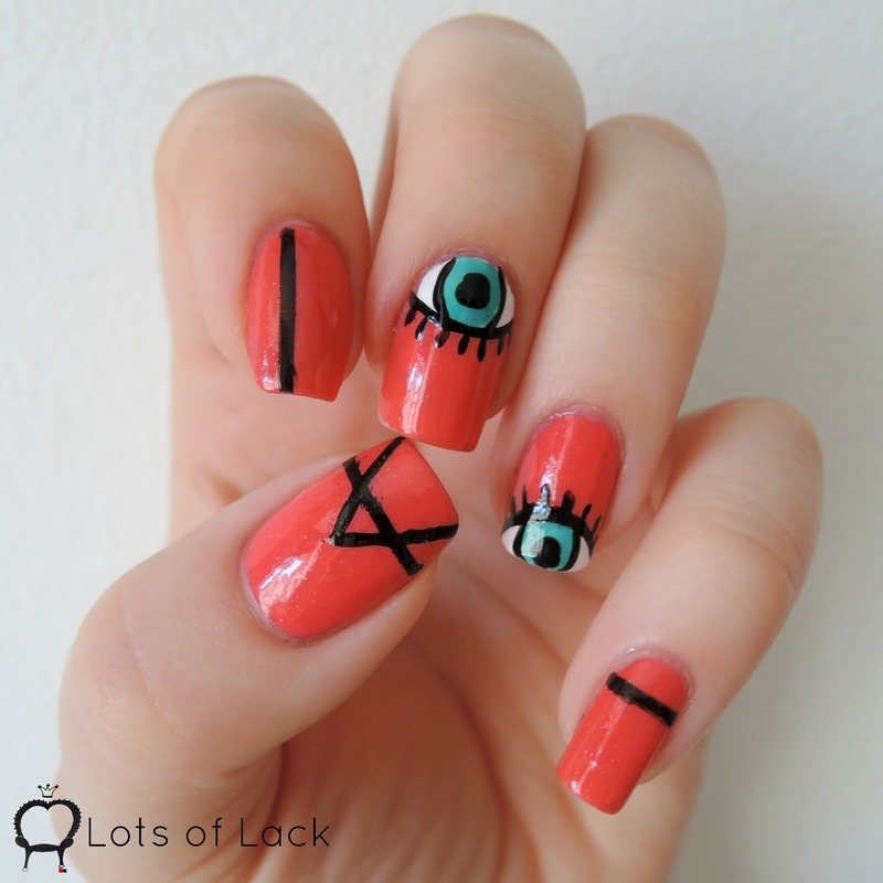 Illuminati Nails nail art by LotsOfLack - Nailpolis: Museum of Nail Art