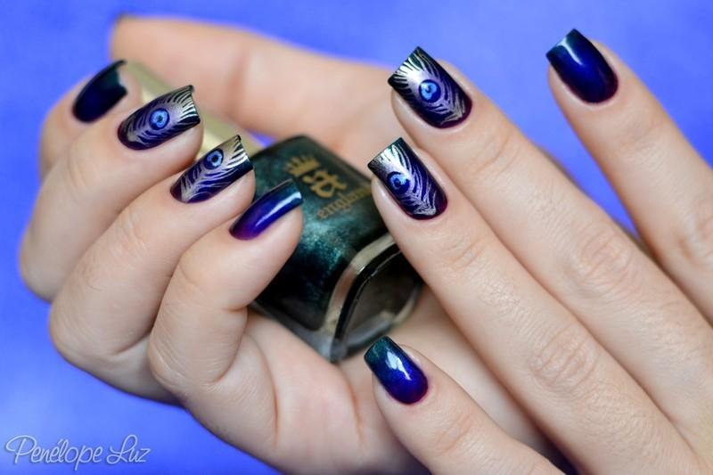Nail Art Peacock nail art by Penélope Luz