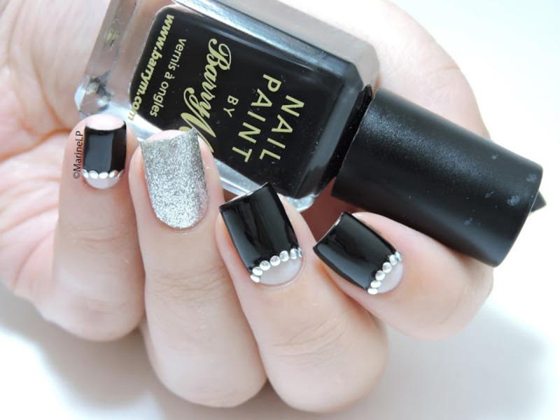 Half-moon nail art by Marine Loves Polish