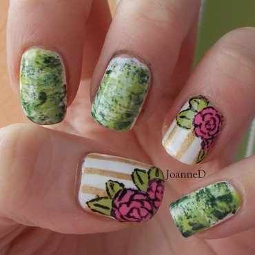 Spring roses nail art by JoanneD