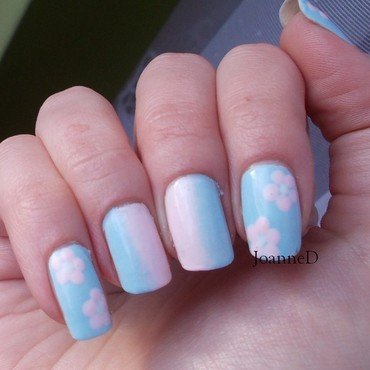 Pastel Spring nail art by JoanneD