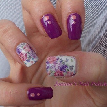 Roses with purple nail art by JoanneD