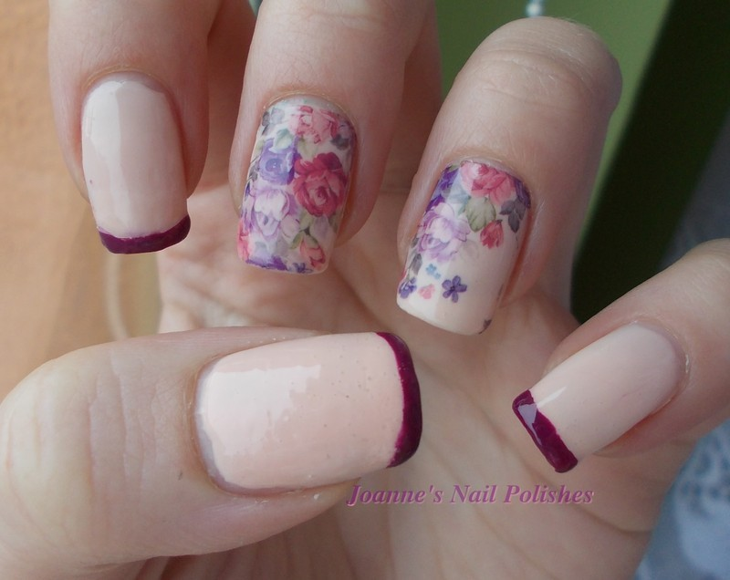 Nude roses nail art by JoanneD