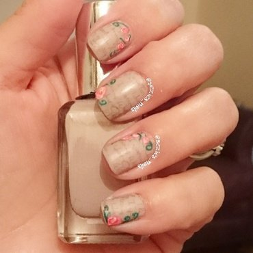 Love letter nails nail art by Sarah Bellwood