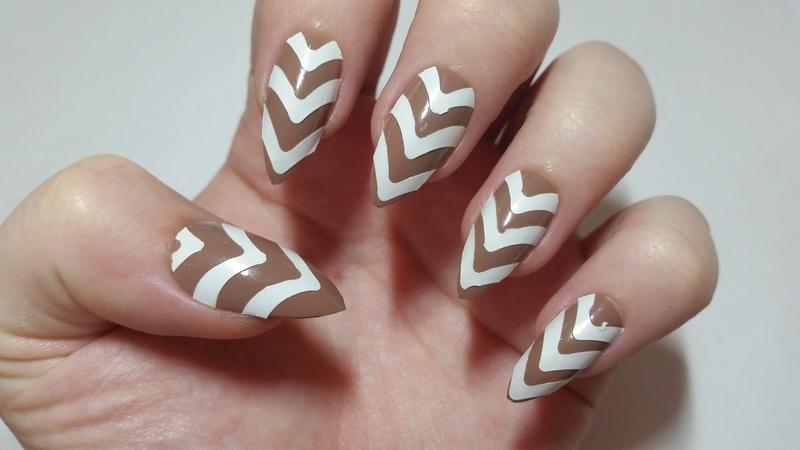 Beige Funky Nail Art Nail Art By Ellie Louise Nailpolis Museum Of