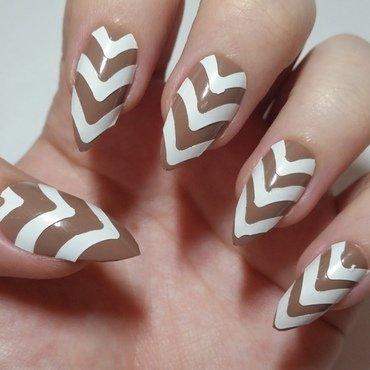 Beige funky nail art  nail art by Ellie Louise