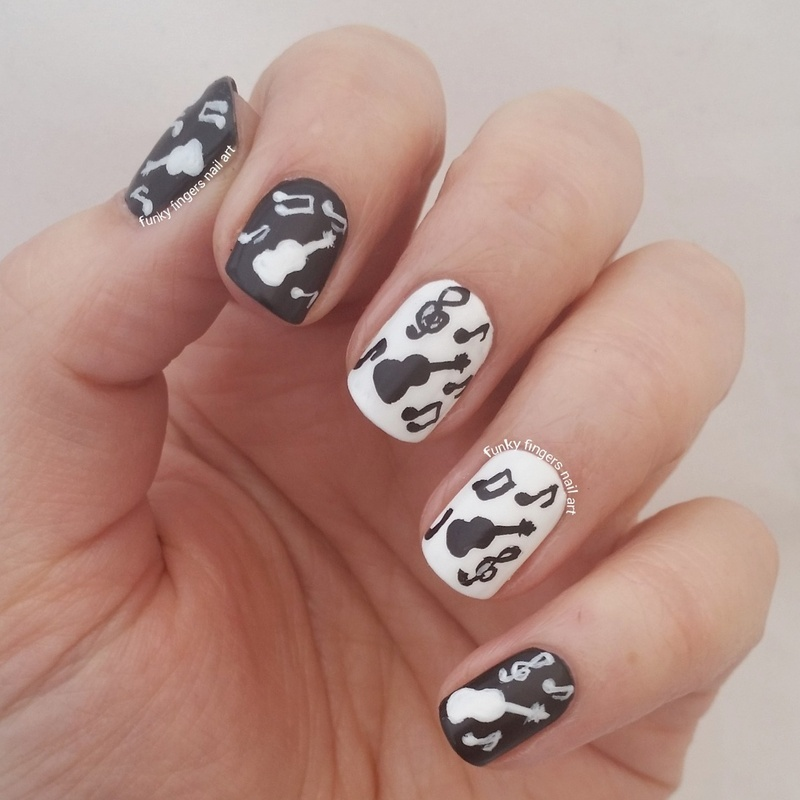 musical nails nail art by Funky fingers nail art