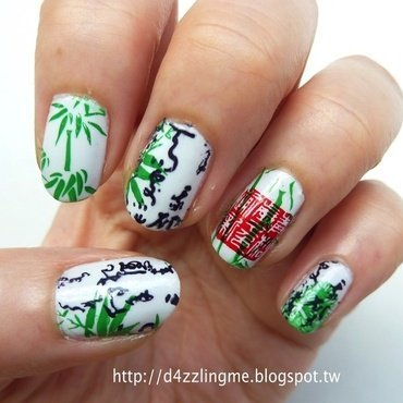 Chinese Painting nail art by D4zzling Me