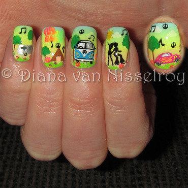 Hippie Festival nail art by Diana van Nisselroy
