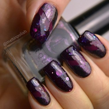 Cosmic nails nail art by Meltin'polish