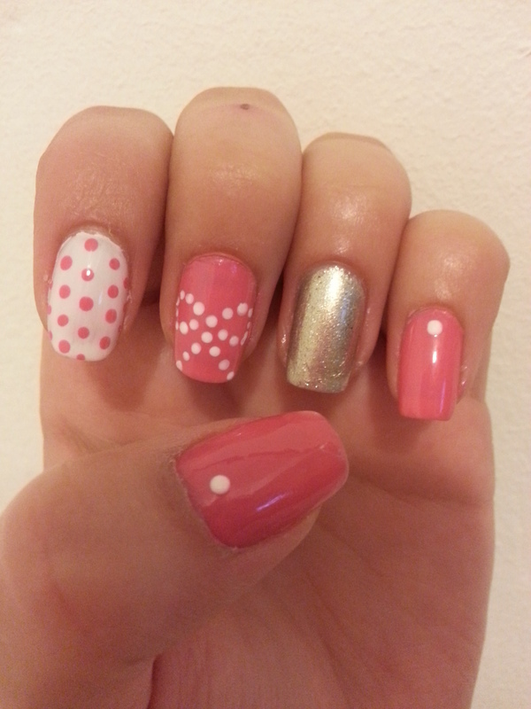 Pink Bow Dotticure nail art by Maya Harran