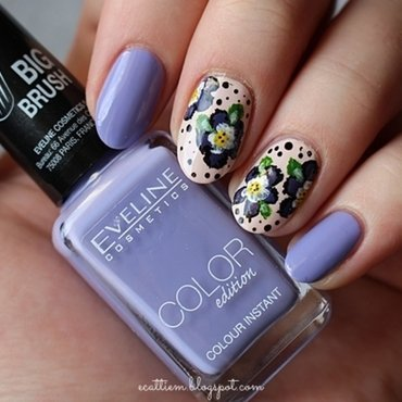 FANCY PANSY nail art by ecattiem