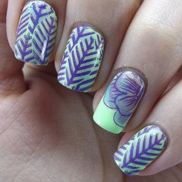 Bp 54 nail stamping plate bornpretty store todos los esmaltes son pocos flowers leaves thumb370f