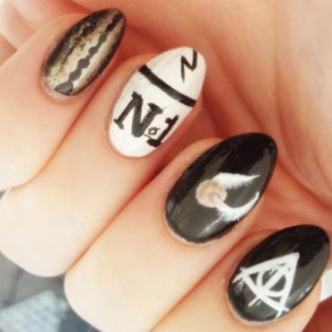 Harry Potter nail art by Ellie Payne
