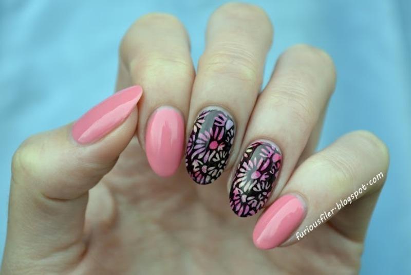 Summer flowers nail art by Furious Filer