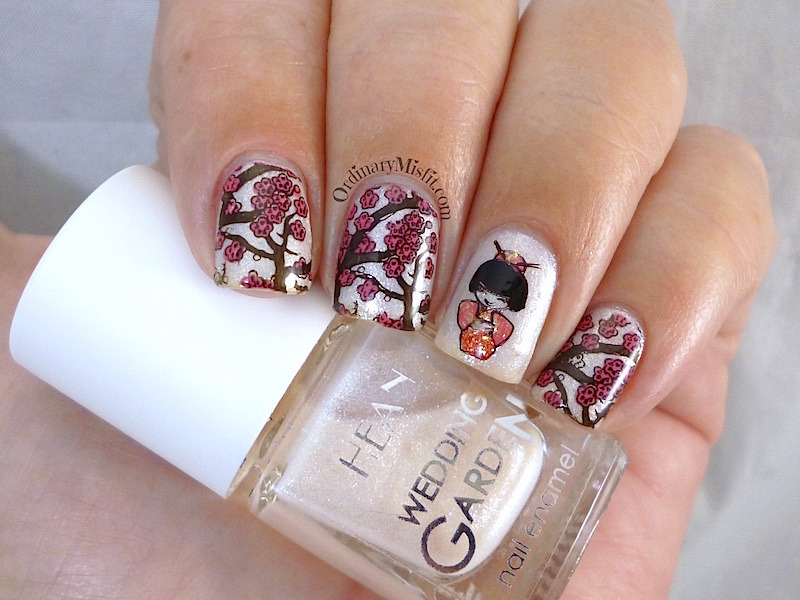 Blossoms nail art by Michelle