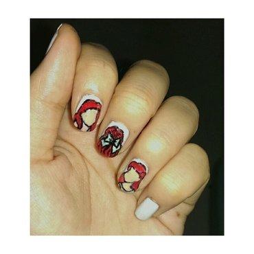 #31dc2 - Red or Orange nail art by JingTing Jaslynn
