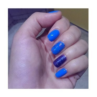 #31dc2 - Blue or Violet nail art by JingTing Jaslynn