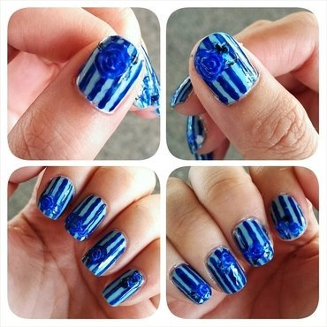 #31dc2 - Monochromatic nail art by JingTing Jaslynn