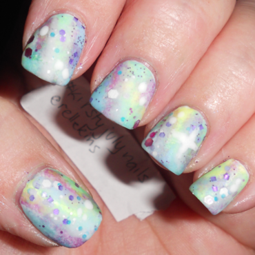 Pastel Galaxy of Australian Indie Polish nail art by Relle Chastain