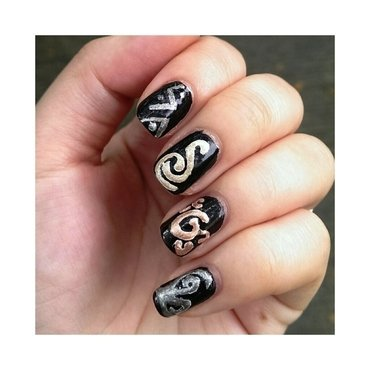 #31dc2 - Metallic nail art by JingTing Jaslynn