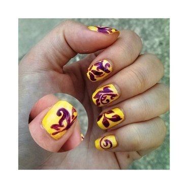 #31dc2 - Intricate nail art by JingTing Jaslynn