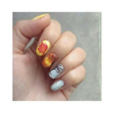 #31dc2 - Favourite Season nail art by JingTing Jaslynn