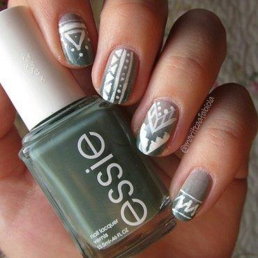 Tribal nails nail art by Mary