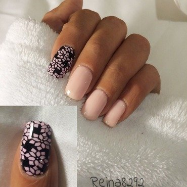 Pretty In Pink nail art by Reina