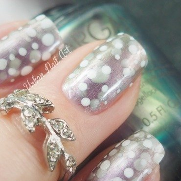 Microshot of my 'Dotticure' nail art by Lou