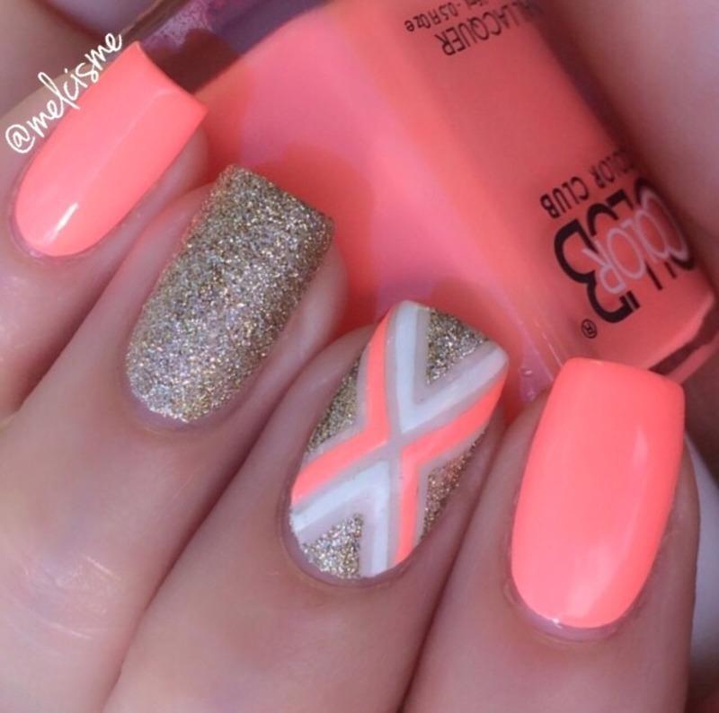 X  nail art by Melissa