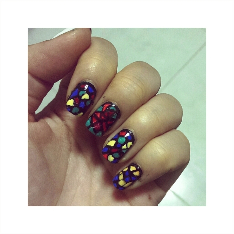 #31dc2 - Abstraction.  nail art by JingTing Jaslynn