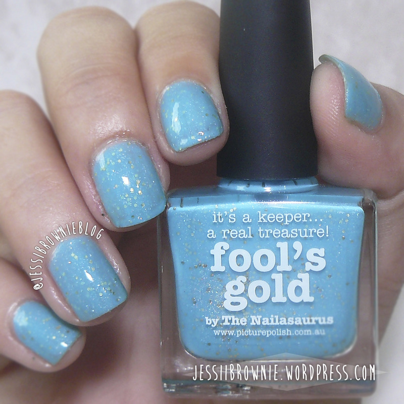 piCture pOlish Fool's Gold Swatch by Jessi Brownie (Jessi)
