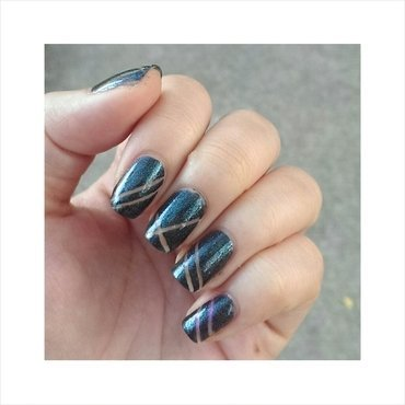 #31dc2 - Tape nail art by JingTing Jaslynn