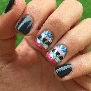 Stripes nail art by Ashley