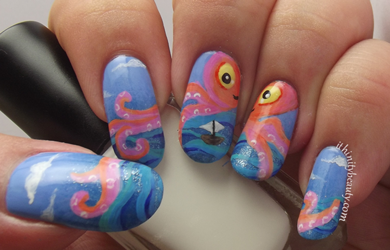 The Friendly Octopus! nail art by Ithfifi Williams
