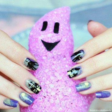 Spooky Nails nail art by lack.poesie (Sarah)