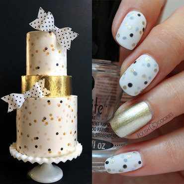 Inspired by a cake - part 20.  nail art by PolishCookie