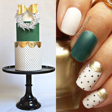 Inspired by a cake - part 16. nail art by PolishCookie