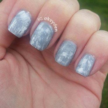Drybursh nail art by Kelsey