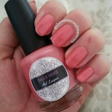 Daily Hues Nail Lacquer Pink Shimmer Swatch by Kelsey