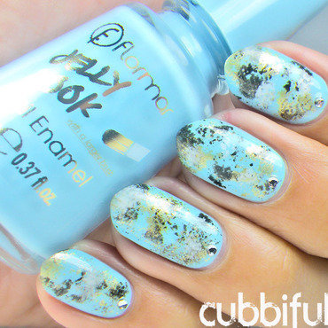 Stone Marble Nails nail art by Cubbiful