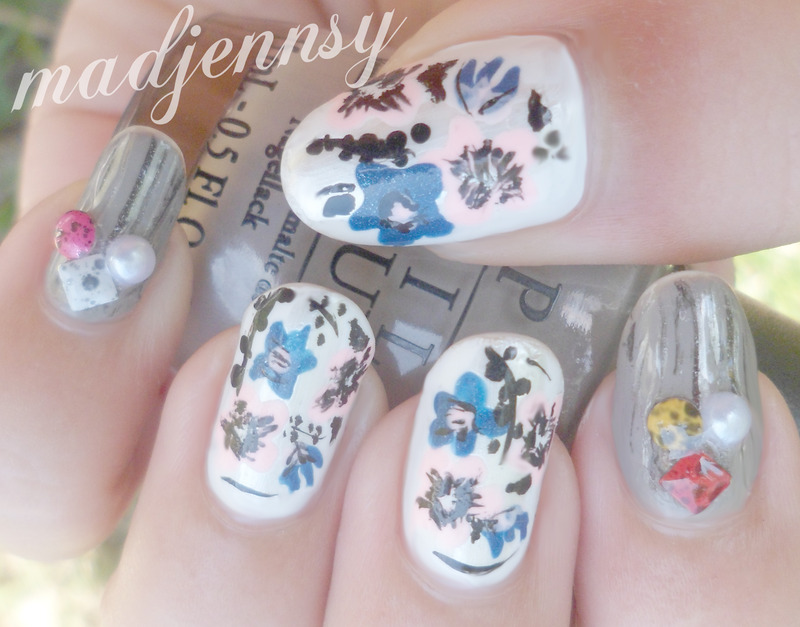 Japanese Spring Inspired Nail Art nail art by madjennsy Nail Art