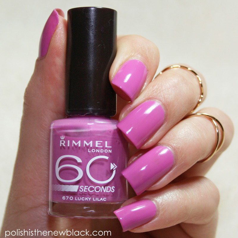 Rimmel London Lucky Lilac Swatch by Polishisthenewblack