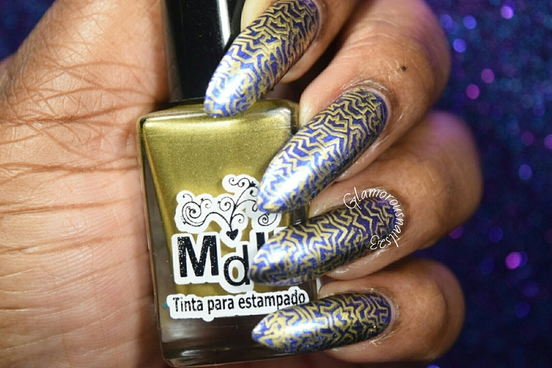 Lily Anna 08 Stamping  nail art by glamorousnails23