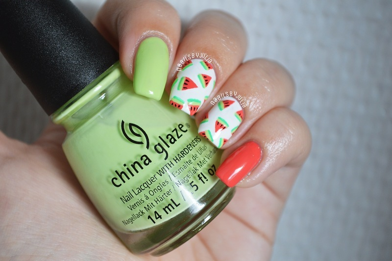 Watermelons nail art by Julia - Nailpolis: Museum of Nail Art