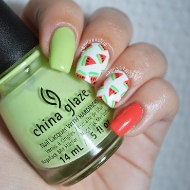 Watermelons nail art by Julia