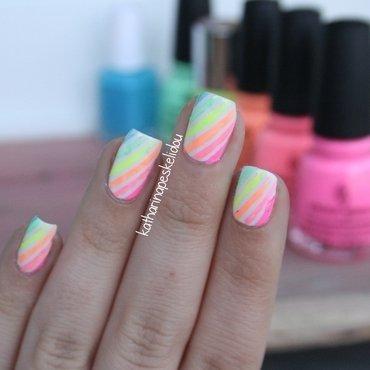 Neon Rainbow II nail art by katharinapeskelidou