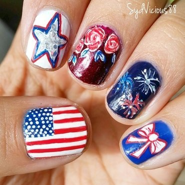 Independence Day  nail art by SydVicious
