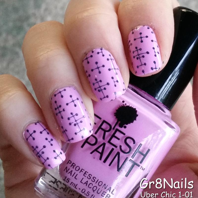 Simple Nail Stamping nail art by Gr8Nails